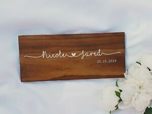 Personalised Wedding Gift, Couple Name Sign, Custom Wood Name Sign, Wedding Gift