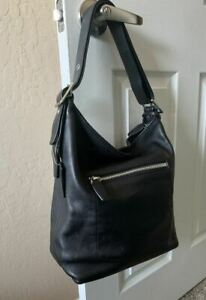 Coach Legacy Soho Leather Bucket Crossbody   Black   Vintage