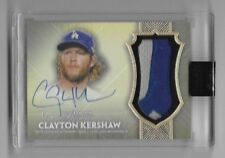 Clayton Kershaw 2017 Topps Dynasty Gold Auto Autograph Patch Jersey Relic #d 4/5