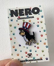 Perro Chiuahua Perrito Suave Esmalte Pin de Solapa Insignia de siembra USA American Navidad