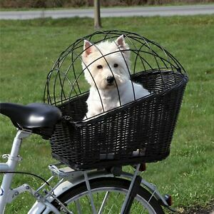 Rear Mounted Dog Bicycle Travel Basket Carrier with Safety Mesh