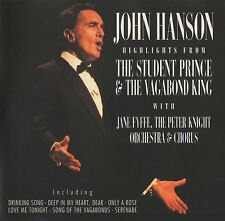 JOHN HANSON - THE STUDENT PRINCE & THE VAGABOND KING - CD