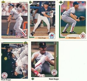 Wade Boggs lot of 5 different Boston Red Sox Upper Deck Baseball Cards