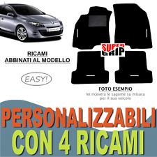 TAPPETINI AUTO SU MISURA PER RENAULT MEGANE (3) MOQUETTE E GOMMA + 4 RICAMI EASY