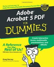 Adobe Acrobat 5 PDF For Dummies by Harvey, Greg Paperback Book The Cheap Fast