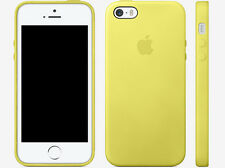 Iphone 5/5s leather case - yellow (for apple)