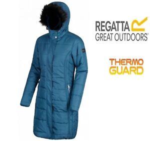 RRP £90 Regatta Womens/Ladies Fermina i / ii Thermoguard Padded Long Coat/Jacket