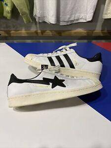 Adidas Superstar x BAPE White Black 2021 - GZ8980 Size 11.5 No Box
