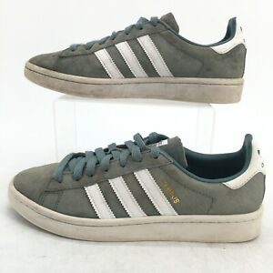 Adidas Mens 7 Campus Raw Green Lace Up Low Casual Shoes Sneakers Suede B37822