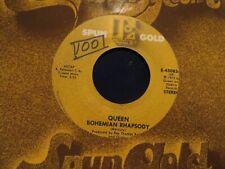 QUEEN BOHEMIAN RHAPSODY/YOU'RE MY BEST FRIEND 1975 ELEKTRA SPUN GOLD EX/NM
