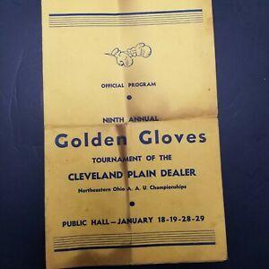 Vintage Golden Gloves Official Program 9th Annual Cleveland Plain Dealer Ohio