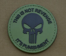 """PVC / Rubber Patch """"It's Punishment"""" with VELCRO® brand hook"""