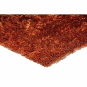 The Rug House Whisper Rust Orange Silky Ultra Fine Soft Non Shed Polyester...
