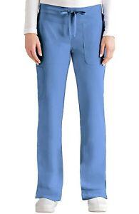 """Grey's Anatomy #2207 Elastic Drawcord Cargo Scrub Pant in """"Ciel"""" Size L"""