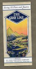1920S THE GRAY LINE BUSES BROCHURE TO EL PASO TEXAS & JUAREZ
