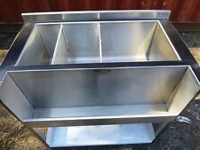 More details for slimline cocktail bar station, stainless, fully insulated freestanding ice well