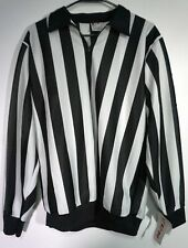Nwt Ccm Men's M150 Hockey Referee Ref Stripped Jersey w Sleeve Snaps Size Large