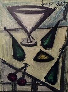 """Bernard Buffet """"Still Life""""  -original lithograph"""