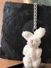"""Miniatura Blanco Bunny Conejo Harvey desechables 24"""" Collar"""