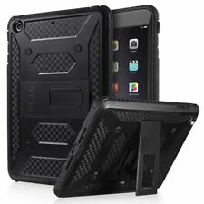 ULAK KNOX ARMOR Rugged Shockproof Kickstand Cover Case for iPad Mini 4 Black