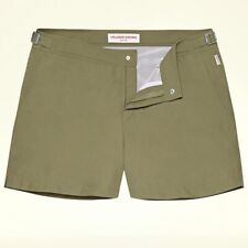 ORLEBAR BROWN Khaki Green Setter Swim Shorts Sz 32 NWT $250