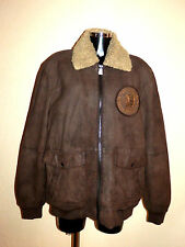 Blouson, jacket, veste WRANGLER, taille XL, cuir agneau, indian, NEUF, auth