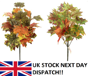 42 cm Artificial Autumn Leave Bush Fall Ivy Leaf Fern Foliage Plant Vine Flower