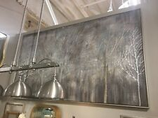"""HUGE XXL 73"""" HAND PAINTED CANVAS TUSCAN TREES FOREST PAINTING WALL ART MODERN"""