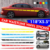 2pcs Universel Sticker Bande Autocollant vinyle Décoration Long Carrosserie Auto