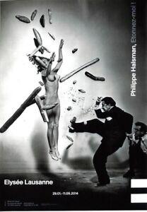 Original vintage poster P.HALSMAN PHOTO EXPO S.DALI & NUDE