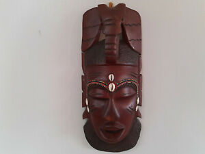 Wall Hanging Decorative Wood Mask African Tribal Style Decor