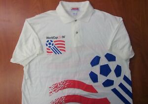 Vintage Rare Jerzees Team USA World Cup 1994 Soccer Authentic Polo Shirt XL NEW