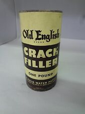 VINTAGE ADVERTISING OLD ENGLISH CRACK FILLER PUTTY TIN PAPER LABLE   M-882