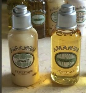 L'OCCITANE AMANDE Almond 2 PIECE TRAVEL SET, 1.6 Oz-SHAMPOO/CONDITIONER