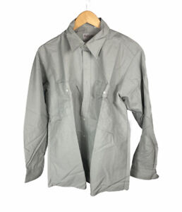 New Vintage Highland Gray Size L Long Sleeve Button Up Free US Shipping