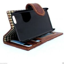 genuine real leather hard Case for iphone 5 5s 5c book wallet luxury cover flip