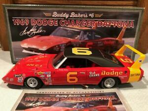 Autographed University of Racing 1969 Buddy Baker #6 Dodge Charger Daytona 1/24