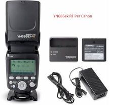 YONGNUO YN686EX-RT Con Batteria Li-ion Wireless 2.4G E-TTL HSS Flash per Canon
