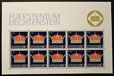 Francobollo LIECHTENSTEIN Stamp - Yvert e Tellier n°490 x10 (En Feuillet) n (Y5)