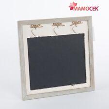 LAVAGNA Lavagnetta memo board BIANCA CUORI cm.36x36 legno anticato Shabby cucina
