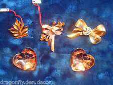 """Vintage Signed """"CORO"""" Lot of Five Copper Brooches Canadian"""