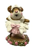 WEE FOREST FOLK Prima Ballerina M-162 Miniature Mouse in Pink Dress 1989 W/Box