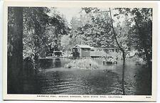 SANTA CRUZ, CA VINTAGE POSTCARD Swimming Pool, Sequoia Gardens near Santa Cruz