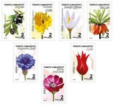 TURKEY 2018, PLANTS THEMED CONTINUOUS POSTAL STAMPS, FLOWERS, TULIP, ROSE, MNH
