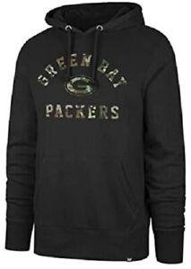 Green Bay Packers Men's Arch Camo Pullover Hoody Sweatshirt - Black