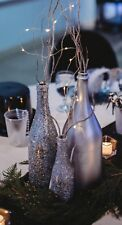 Bottles Silver Champagne Large Painted Wedding New Years Table Decor (1 Bottle)