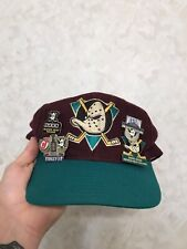 Anaheim Mighty Ducks NHL Vintage 90's Snapback With Ducks Pins Lot 2000