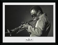 MUSIC MILES DAVIS JAZZ MUSICIAN PHOTOGRAPH BLACK WHITE PORTRAIT POSTER LV10420