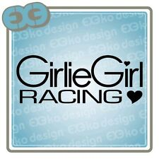 JDM Girlie Girl Racing Car Auto Funny Decal Sticker Honda Si Acura Toyota Subaru
