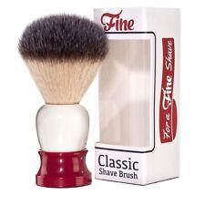 Fine Classic Synthetic Angel Hair Shaving Brush Red White